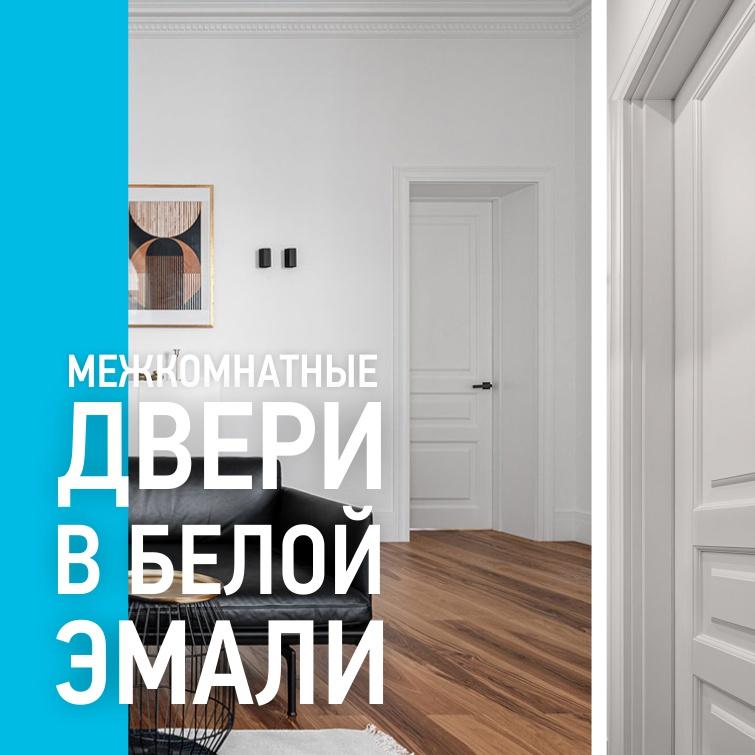Двери в белой эмали.